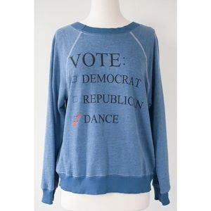NEW Wildfox Vote The Dance Party Pullover Top